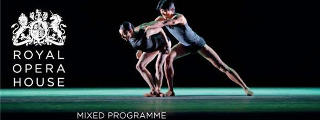 Tre koreografer præsenterer deres seneste balletter; 'Viscera', 'Infra' & 'Fool's Paradise' på the Royal Opera House i London. Bestil billetter her!