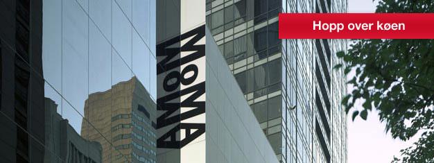 Bestill billetter til Museum of Modern Art (MoMA) i New York hjemmefra og spartid ved inngangen. Gratis for barn under 17. Gratis lydguide inkl.