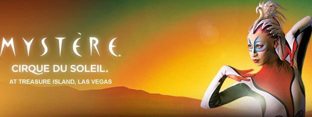 "Cirque du Soleils Mystére i Las Vegas er et ""must"" når du besøker fabelaktige Vegas! Bestill billetter til Cirque du Soleils Mystére i Las Vegas her!"