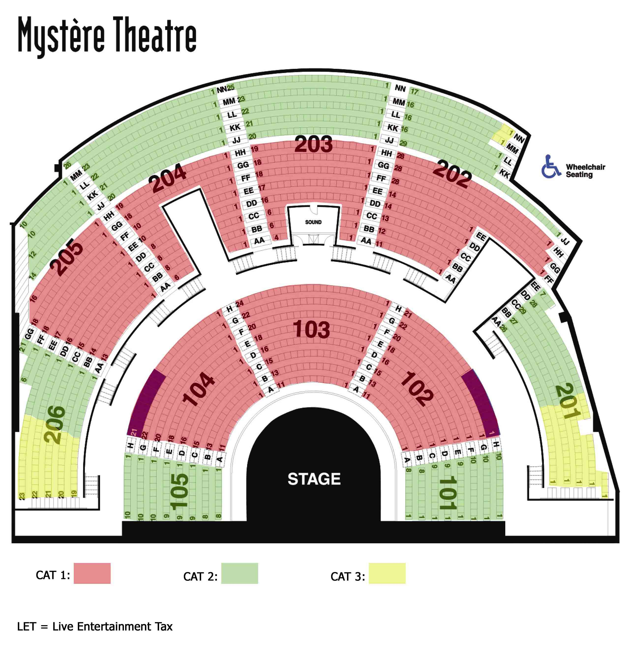 Mystere Theatre at Treasure Island