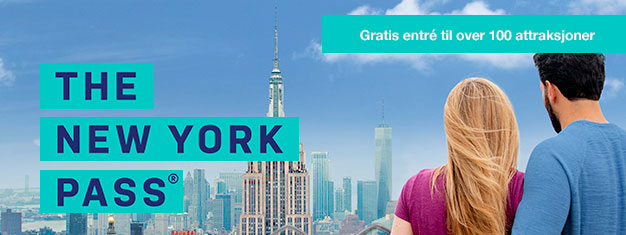 Spar tid og penger med New York-kortet! Over 80 gratis attraksjoner, museer og turer! Slipp køen til populære severdigheter. Bestill på nettet!