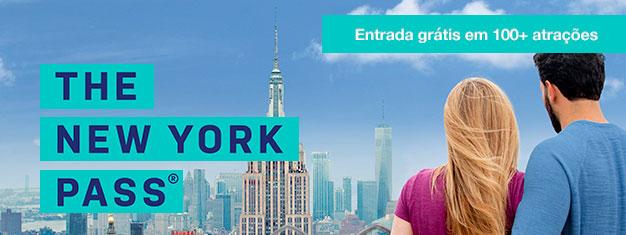 Economize tempo e dinheiro com o Passe Turístico de Nova York! São mais de 80 atrações, museus e tours gratuitos, sem perder tempo em filas. Reserve online!