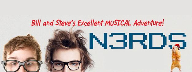 "Nerds i New York er den første ""musical dot comedy"", som dykker ned i den episke rivalisering mellem to af historiens største ikoner, Bill Gates og Steve Jobs."