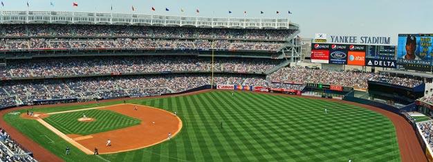 Se en New York Yankees-kamp på Yankee Stadium i Bronx, og se en episk baseballkamp med det legendariske laget! Bestill billetter her!
