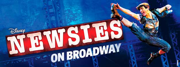 Disneys nyeste musikal, Newsies på Broadway i New York er allerede en kjempehit. Kjøp dine billetter til Disney musikalen Newsies på Broadway i New York her!