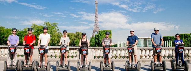 Explore the magical streets of Paris at sunset on a segway! Go sightseeing in a new way! Enjoy a small tour group! Book your segway tour today!