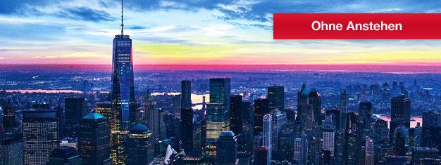 Das One World Observatory in New York ist die höchste Aussichtsplattform der westlichen Hemisphäre! Buchen Sie Tickets für die Aussichtsplattform im Freedom Tower in NYC!