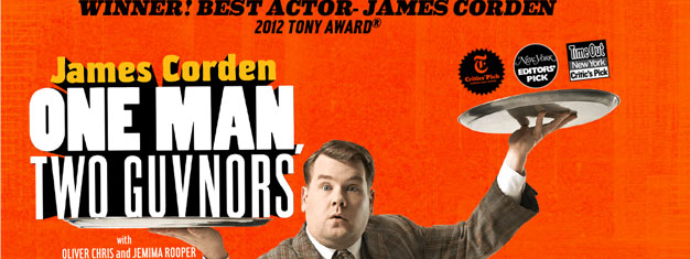 One Man, Two Guvnors at Music Box Theatre on Broadway in New York is the comedy to see right now. Tickets to One Man, Two Guvnors in New York can be booked here!