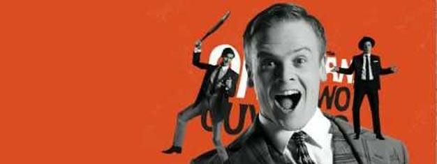 Komedie hittet One Man, Two Guvnors fortsætter nu på Theatre Royal Haymarket i London. Billetter til One Man, Two Guvnors i London her!