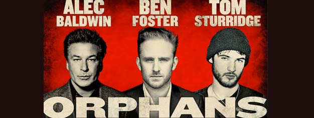 Orphans on Broadway in New York with Alec Baldwin, Ben Foster and Tom Sturridge is a real drama. Tickets for Orphans on Broadway here!