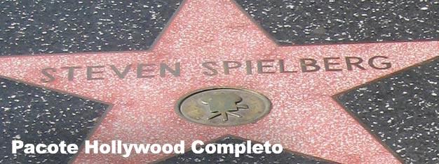 O Pacote Hollywood Completo inclui ingressos para o Tour Estrelas do Cinema, City Tour Hop On Hop Off (válido por 24h) e entrada para o Madame Tussauds.
