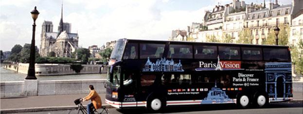 Zamów bilety na wycieczkę: Expressem po Paryżu, organizowaną przez Paris Vision w Paryżu. Zwiedź cały Paryż autobusem — wspaniale, elegancko i bez trudu!