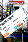 Tickets to Paris Visite Travel Card