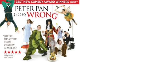 Se originalensemblen i komedi-succén Peter Pan Goes Wrong i West End i vinter! Biljetter till pjäsen baserad på J.M Barries klassiska saga bokar du här!