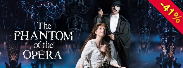 O Fantasma da Ópera, deA. L. Webber, é o musical dos musicais. Não perca este espetáculo excepcional em Londres! Reserve online aqui!