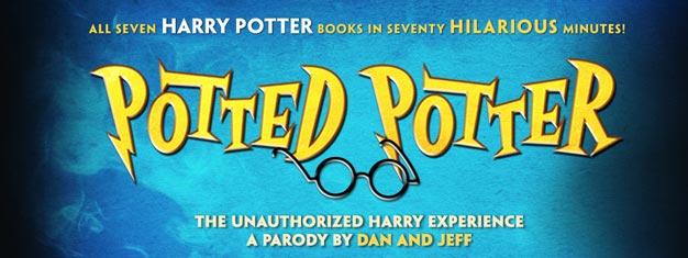 Potted Potter am Broadway in New York ist eine sehr unterhaltsame Komödie, die auf allen der sieben Harry Potter Bücher basiert. Bestellen Sie Ihr Karte für Potted Potter am Broadway in New York hier!