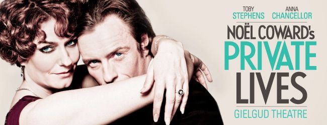 Private Lives, Noel Coward's comic masterpiece in London with Toby Stephens and Anna Chancellor in the leading roles. Tickets here!