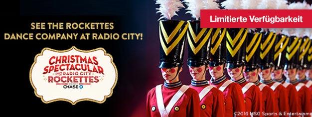 Verpassen Sie dietraditionelle und beeindruckende Radio City Christmas Spectacular Show keinesfalls, bezaubert jung und alt! Buchen Sie Ihre Tickets hier!