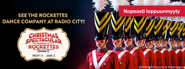 Älä jätä väliin perinteistä ja vaikuttavaa Radio City Christmas Spectacularia, joka edelleen ilahduttaa kaiken ikäisiä yleisöjään! Osta liput täältä!