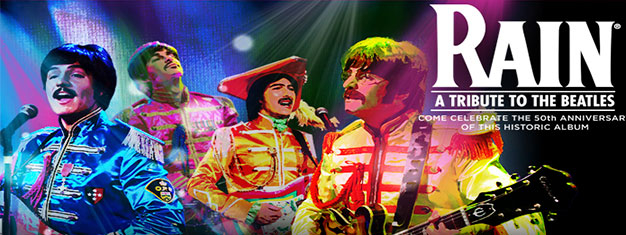 RAIN will bring Beatles the Sgt. Pepper's Lonely Hearts Club Band album to life on Stage in London. Book tickets for Rain: 50 Years of Sgt Pepper in London here!