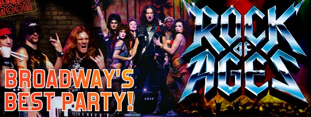 Ga naar de musical Rock of Ages op Broadway in New york. Luister naar de mooiste jaren 80 liedjes in de musical Rock of Ages op Broadway. Bestel Tickets voor Rock of Ages hier!