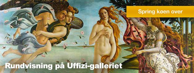 Uffizi-galleriet skal opleves. Museet indeholder nogle af verdens fineste kunstværk fra den italienske renæssance. Bestil din tur online og spring køen over!