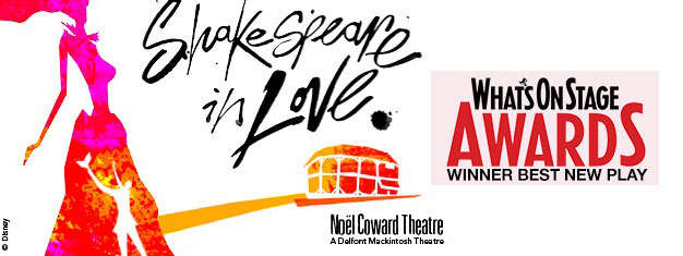 Shakespeare in Love in London in a stage version by Lee Hall adapted from the smash-hit 1998 movie romantic comedy. Tickets for Shakespeare in Love in London here!