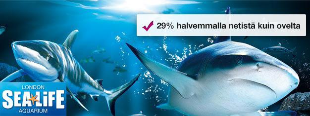 Sea Life London Aquariumissa on yksi Euroopan suurimmista kokoelmista mereneläviä. Sea Life Näe muun muassa yli 500 lajia ja kasvia sekä yli 40 erilaista haita. Varaa netistä!