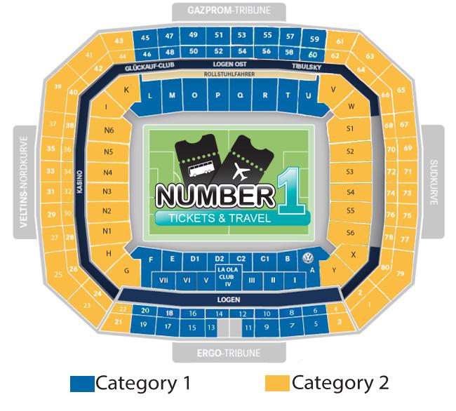 Plan de l'arène Veltins-Arena