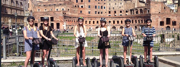 Discover Rome by segway! A segway tour is the ideal sightseeing tour for families with teenagers, couples, & individuals. Book your tickets online!
