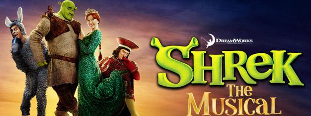Jděte se podívat na muzikál Shrek v Londýně. Shrek je konečně na jevišti v Londýnském West Endu. Vstupenky si můžete zakoupit zde!
