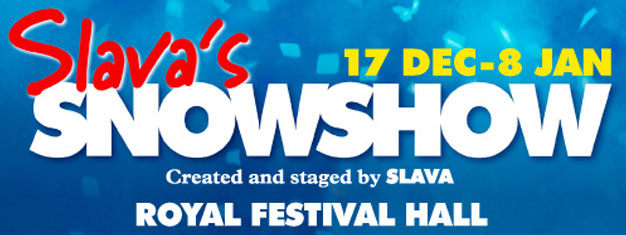 Slava's Snowshow is a visual masterpiece and returns to London after a 15 year absence. Book tickets for Slava's Snowshow at Royal Festival Hall in London this Christmas.
