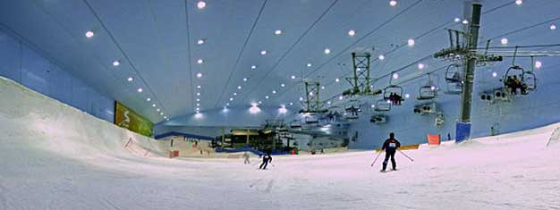 Visit the world's largest snow park - Ski Dubai. Meet the penguins, go skiing or snowboarding, race down the slopes on your sled. Book tickets online!