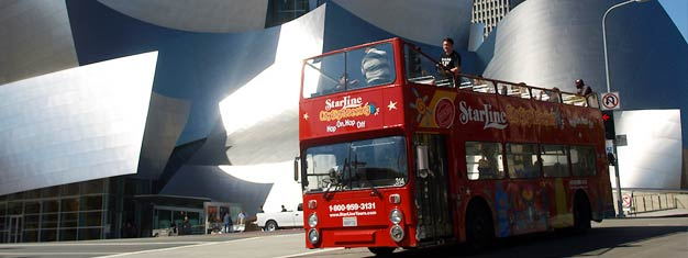 Get your Hop-On Hop-Off pass and experience all Los Angeles has to offer from Hollywood to Beverly Hills - from Santa Monica's beaches to Downtown LA.