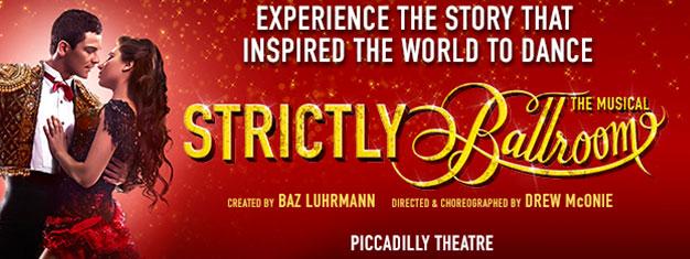 Strictly Ballroom är den upplyftande berättelsen som inspirerade hela världen till att dansa. Missa inte denna musikal, ett kalejdoskop av färg och glädje.
