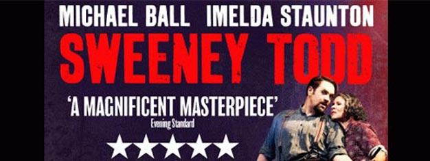 Se Sweeney Todd, Sondheim's musikaliska mästerverk och beryktade historia om Sweeney Todd, den djävulska barberaren från Fleet Street. Köp dina biljetter här!