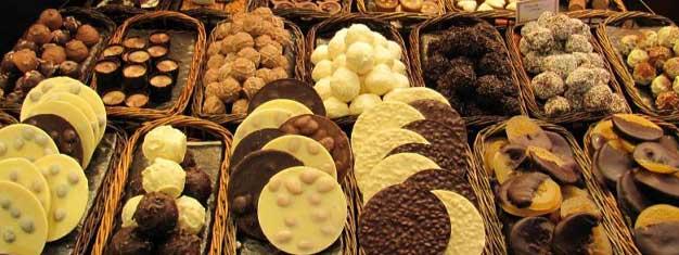 Boka biljetter till en Choklad & Godis-promenad i Barcelona! Besök chokladbutiker, kaféer och bagerier och skäm bort dina smaklökar.