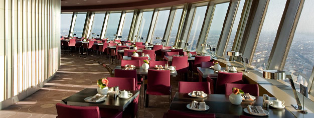 Enjoy a chic champagne breakfast and have more time to enjoy the views with our skip the line tickets and guaranteed window table at the Berlin TV Tower. Book today!