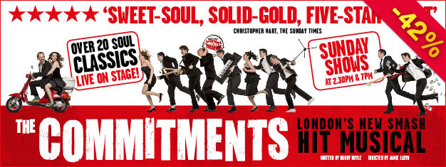 Experience The Commitments based on Roddy Doyle's classic story about a group of Irish kids who find salvation through soul music. Book online!