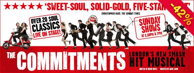 Découvrez The Commitments tiré du livre de Roddy Doyle, un grand classique sur un groupe d'enfants Irlandais qui trouvera le salut en jouant de la musique Soul. Réservez en ligne!