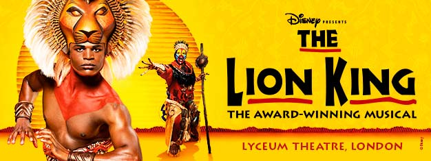 The Lion King in London is the ultimate Disney family musical! Music by Elton John. Find your theatre tickets for The Lion King in London here!