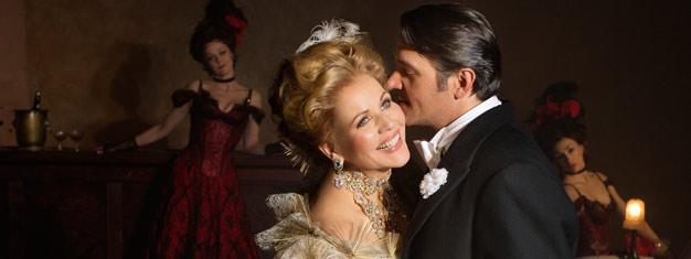 Den enestående Renée Fleming har hovedrollen som den morsomme femme fatale i Lehárs fortryllende operetta, The Merry Widow. Køb dine billetter til The Merry Widow her.