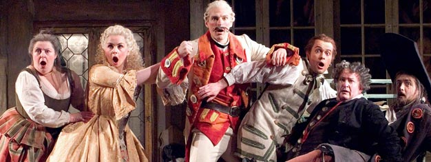 The Barber of Sevilla at London Coliseum is charming, delightful and hilarious, Jonathan Miller's sublime production of Rossini's great comic opera is hard to beat.