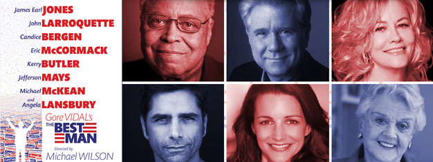 Tickets for The Best Man on Broadway in New York, is Gore Vidal's new play/comedy with, among other, James Earl Jones, Angela Lansbury and Cybill Shephard. Book tickets here!