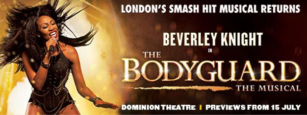Experience the touching musical The Bodyguard in London! Starring Beverly Knightly and filled with the eternal hits from the movie. Book tickets online!