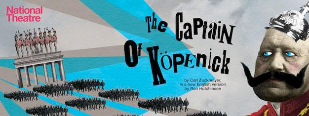 The Captain of Köpenick i London foregår i Tyskland lige før 2. verdenskrig. Billetter til komedien The Captain of Köpenick i London kan bestilles her!