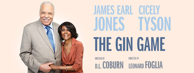Academy Award® winner James Earl Jones and Cicely Tyson in stars in THE GIN GAME in New York City. Book your tickets for The Gin Game in New York here!