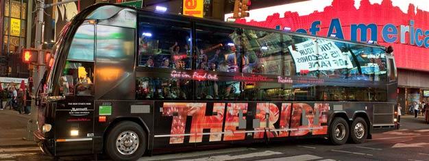 The RIDEer den hotteste måten å oppleve New York. The RIDE er en kombinasjon av sightseeing, show & underholdning. Bestill billetter itl The RIDE i New York her!