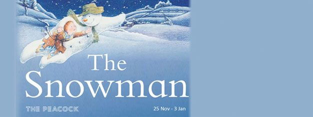 See the stage version of Raymond Briggs' much-loved book The Snowman as it continues to delight children at the Peacock Theatre this Christmas.