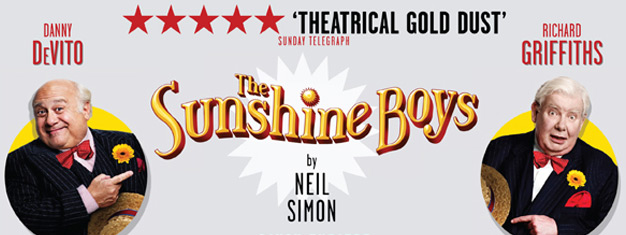 The Sunshine Boys, Starring Danny DeVito and Richard Griffiths are playing on Londons West End. Tickets to The Sunshine Boys in London here!